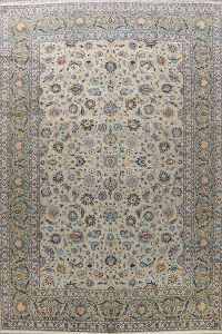 Antique Vegetable Dye Kashan Persian Area Rug 9x12