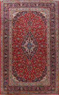 Red Kashan Persian Area Rug 8x12