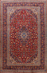 Red Kashan Persian Area Rug 9x13