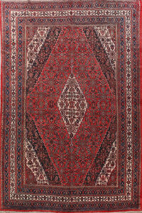 Antique Bibikabad Persian Area Rug 10x14