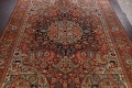 Antique Heriz Serapi Vegetable Dye Persian Area Rug 12x19 image 3