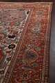Antique Heriz Serapi Vegetable Dye Persian Area Rug 12x19 image 16
