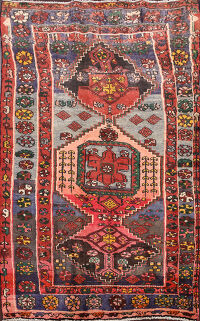 Geometric Malayer Persian Area Rug 4x6
