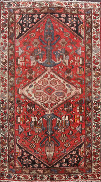 Antique Geometric Malayer Persian Area Rug 4x6