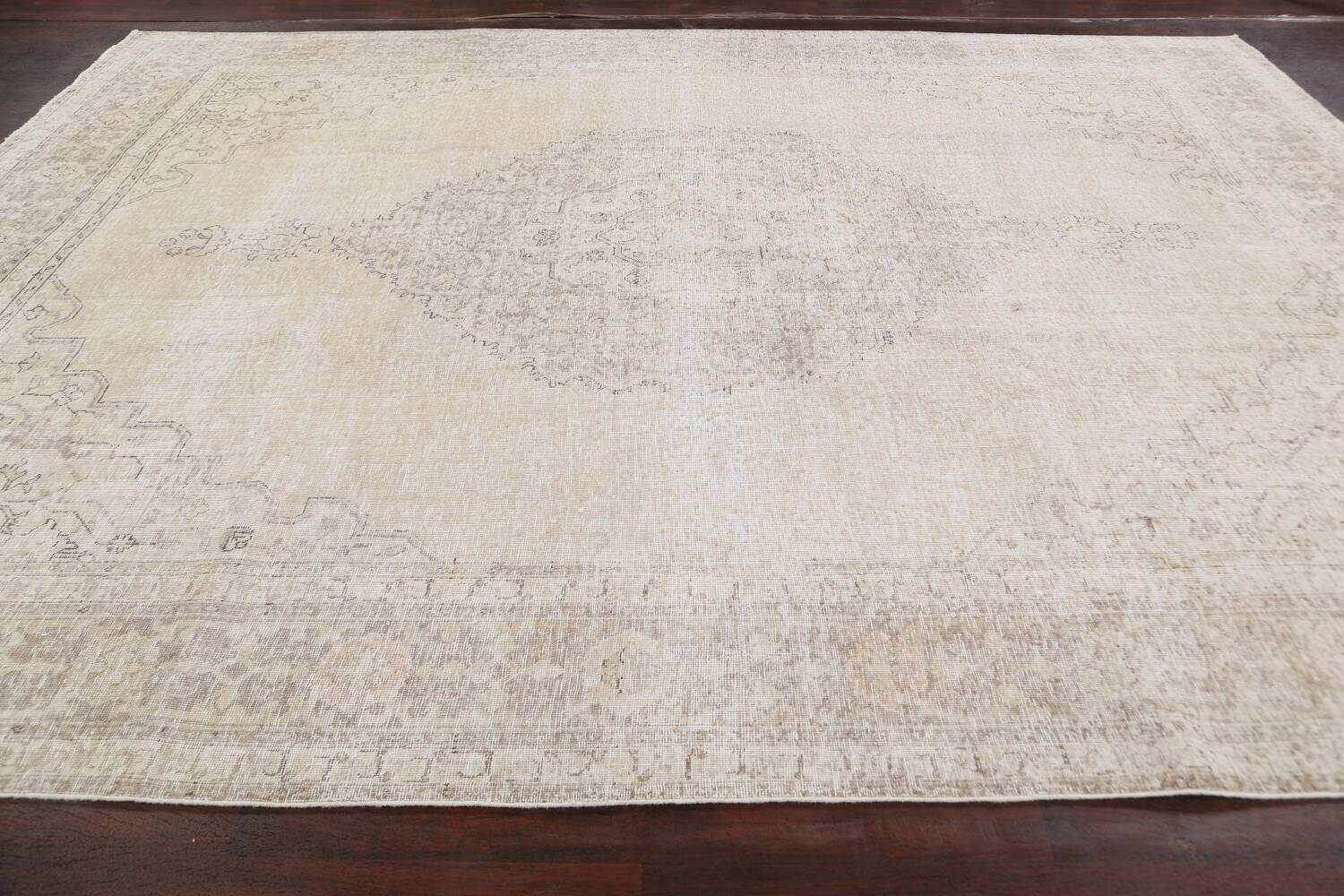 Muted Distressed Tabriz Persian Area Rug 9x12 image 14