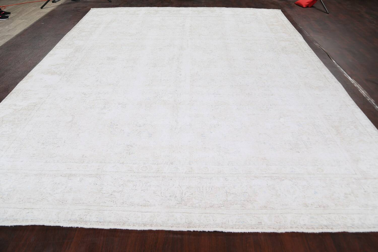 Antique Muted Tabriz Persian Area Rug 10x12 image 15