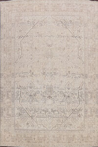 Antique Muted Floral Tabriz Persian Area Rug 10x12