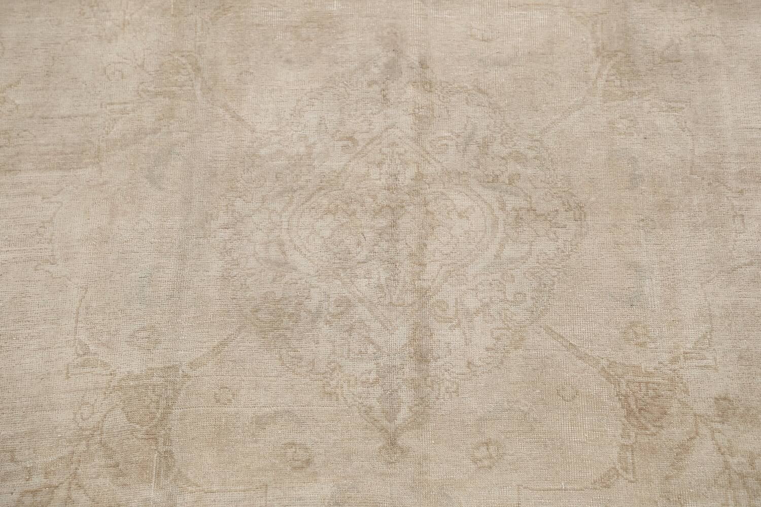Antique Muted Floral Tabriz Persian Area Rug 7x11 image 4