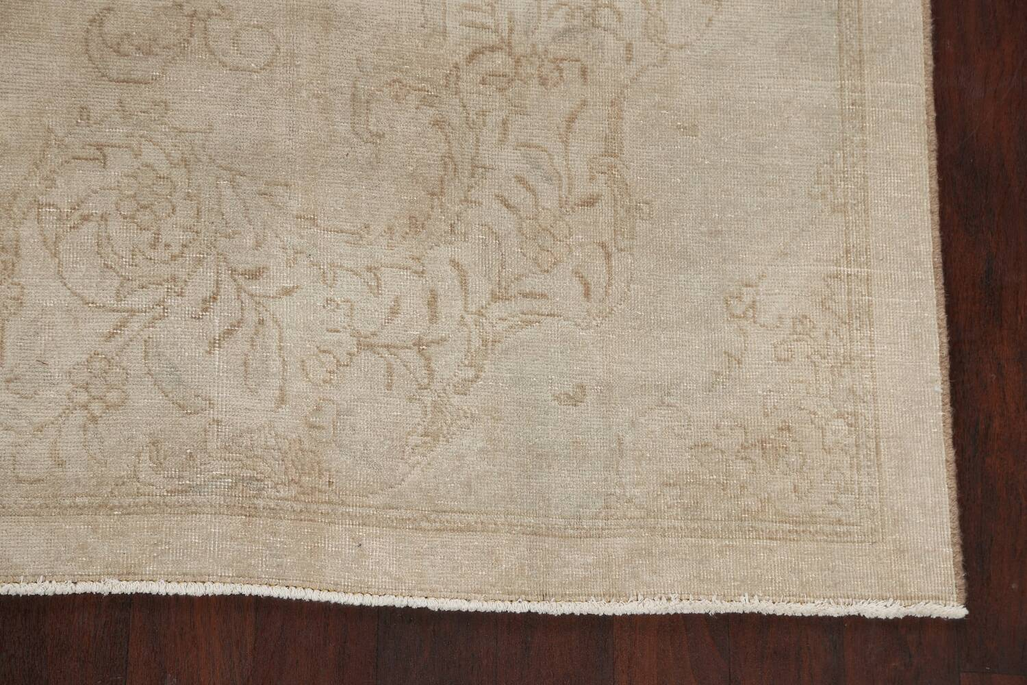 Antique Muted Floral Tabriz Persian Area Rug 7x11 image 5