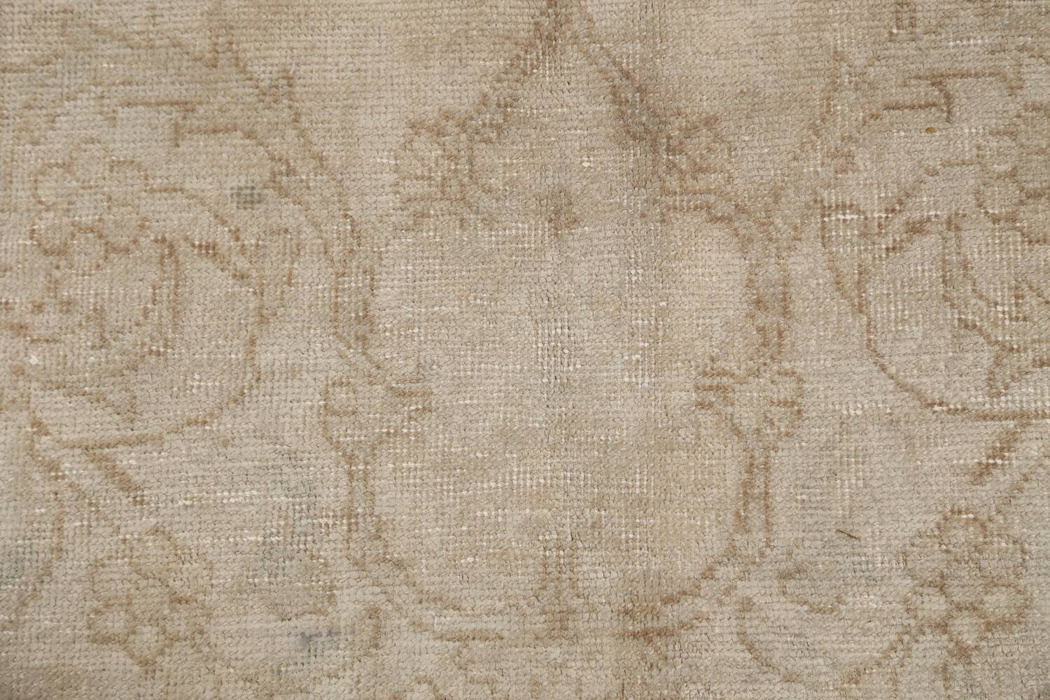 Antique Muted Floral Tabriz Persian Area Rug 7x11 image 9