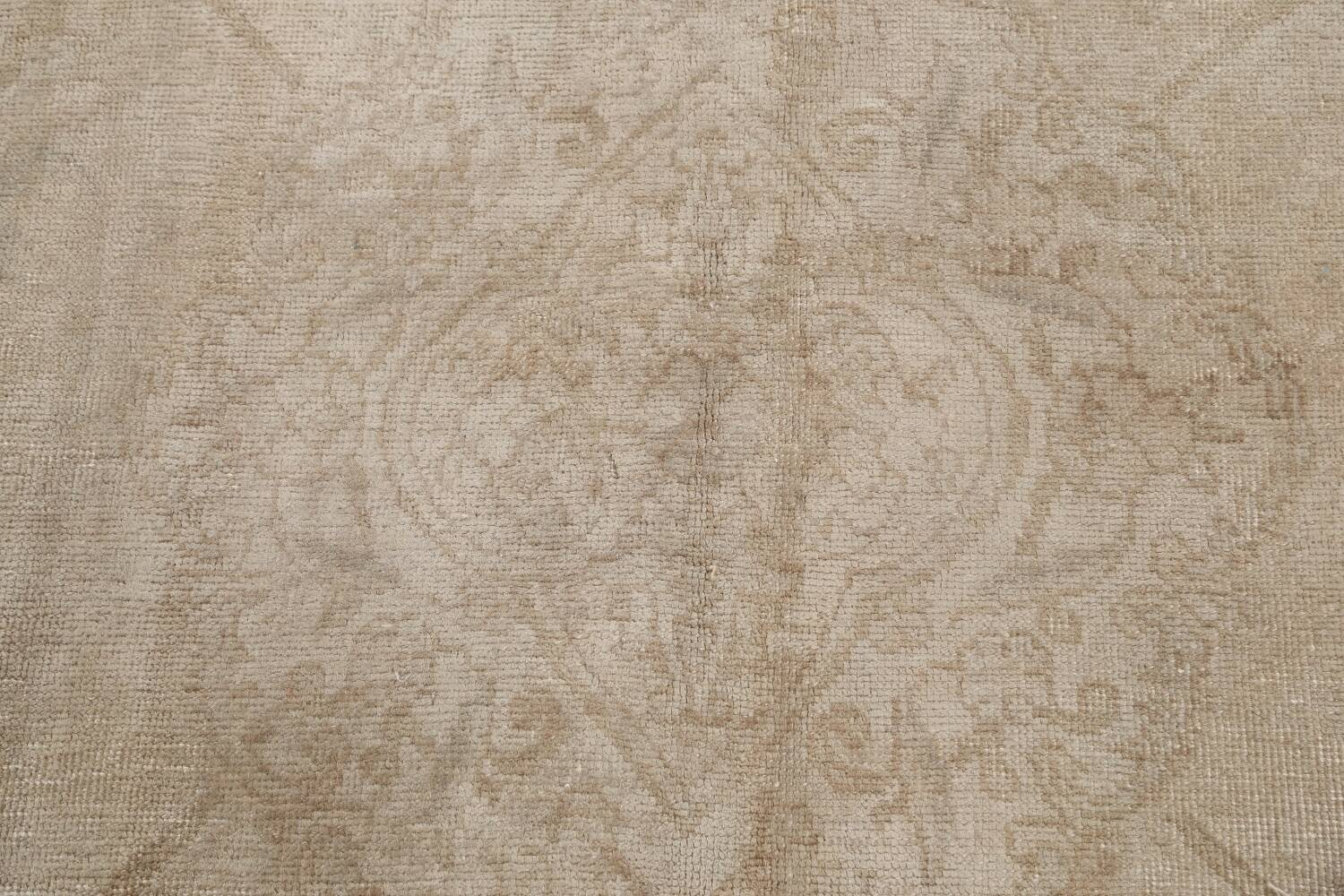 Antique Muted Floral Tabriz Persian Area Rug 7x11 image 11