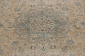 Antique Muted Floral Mashad Persian Area Rug 9x13 image 4