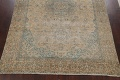 Antique Muted Floral Mashad Persian Area Rug 9x13 image 8