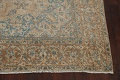 Antique Muted Floral Mashad Persian Area Rug 9x13 image 5