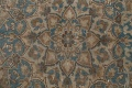 Antique Muted Floral Mashad Persian Area Rug 9x13 image 11