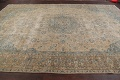 Antique Muted Floral Mashad Persian Area Rug 9x13 image 14