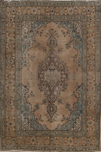 Geometric Mashad Persian Area Rug 7x10
