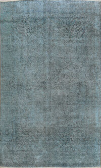 Over- dyed Distressed Tabriz Persian Area Rug 7x10