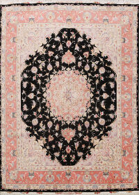 Wool/ Silk Tabriz Persian Area Rug 8x10