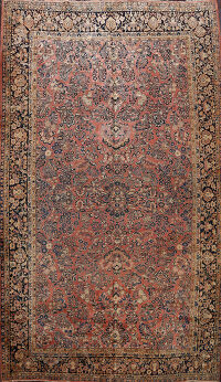 Antique Vegetable Dye Sarouk Persian Area Rug 11x17 Large