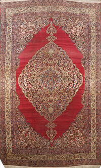 Pre-1900 Antique Kerman Persian Area Rug 14x22 Large