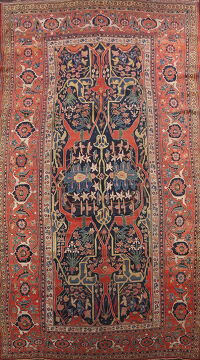 Pre-1900 Antique Bidjar Vegetable Dye Persian Area Rug 12x20