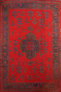Antique Authentic Oushak Oriental Area Rug 11x15 Large