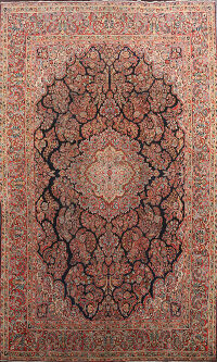 Antique Floral Sarouk Persian Area Rug 10x14