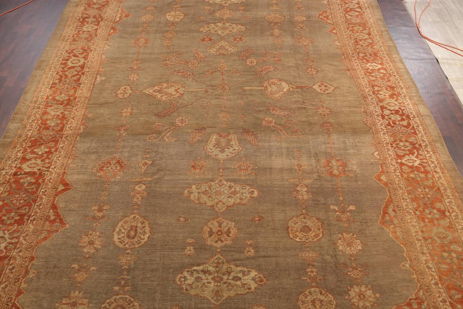 Pre-1900 Antique Sultanabad Persian Rug 13x20 image 3