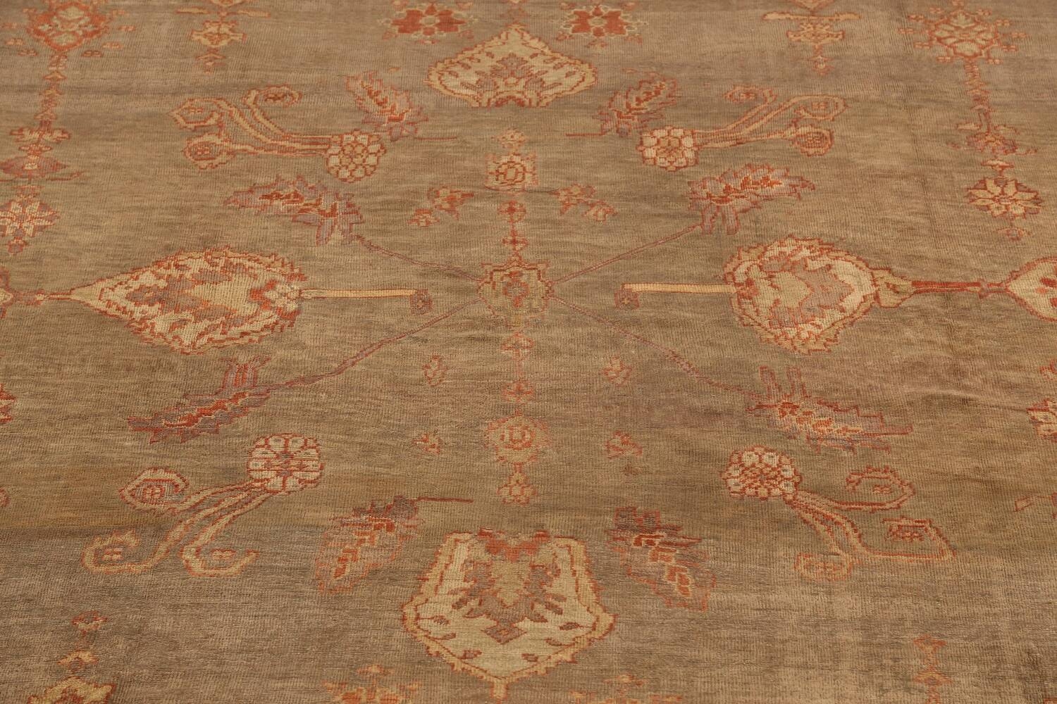 Pre-1900 Antique Sultanabad Persian Rug 13x20 image 4