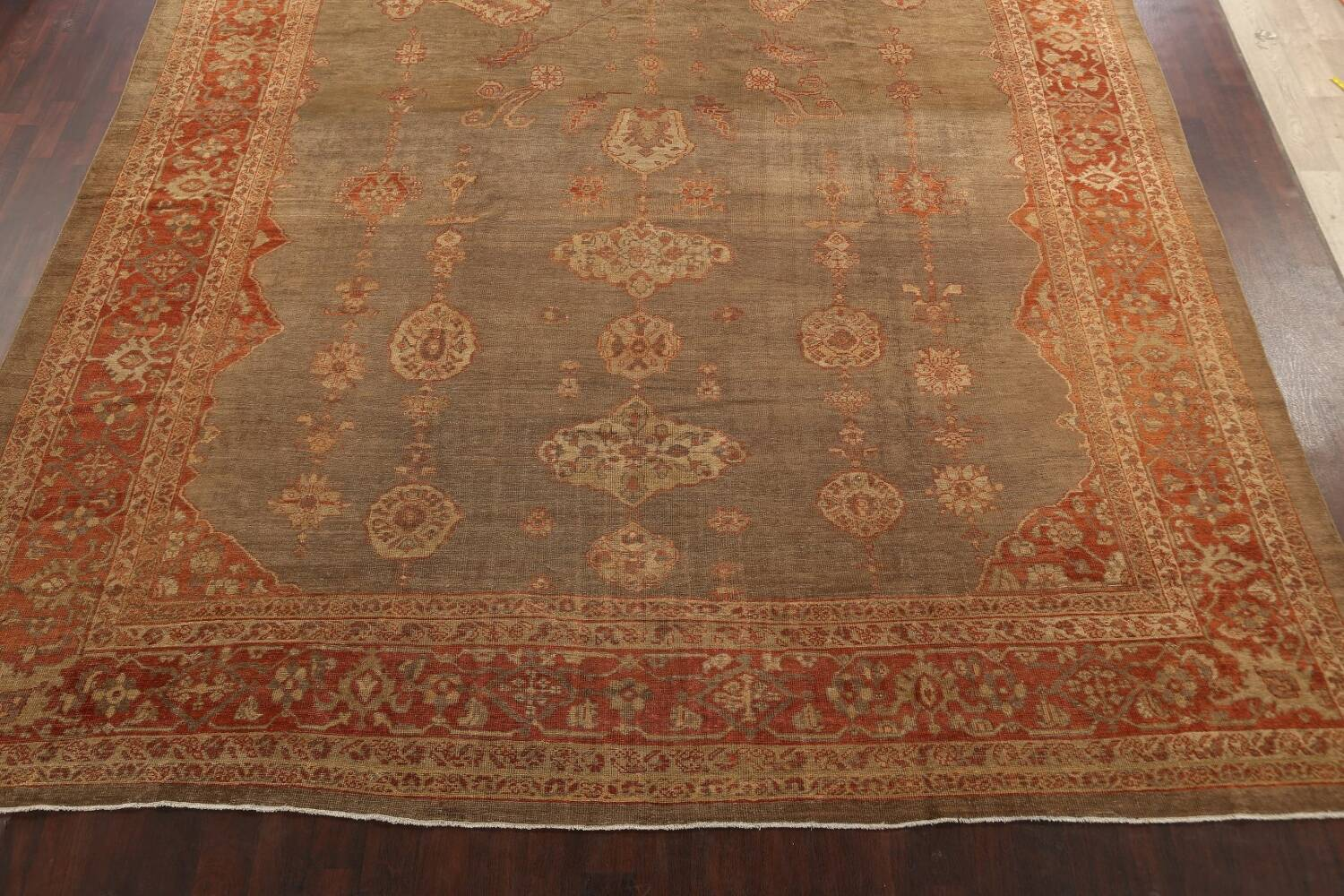 Pre-1900 Antique Sultanabad Persian Rug 13x20 image 8