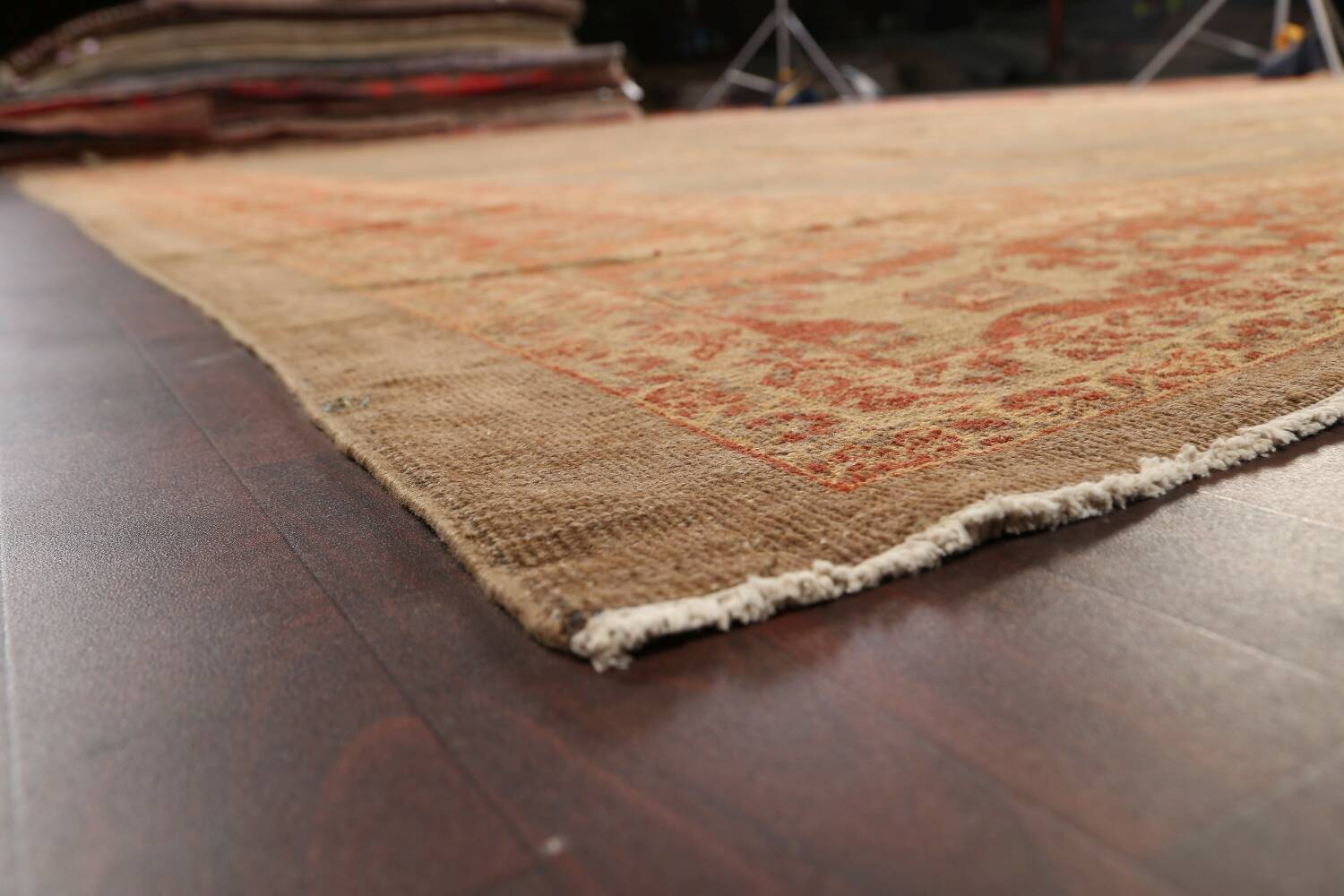 Pre-1900 Antique Sultanabad Persian Rug 13x20 image 6