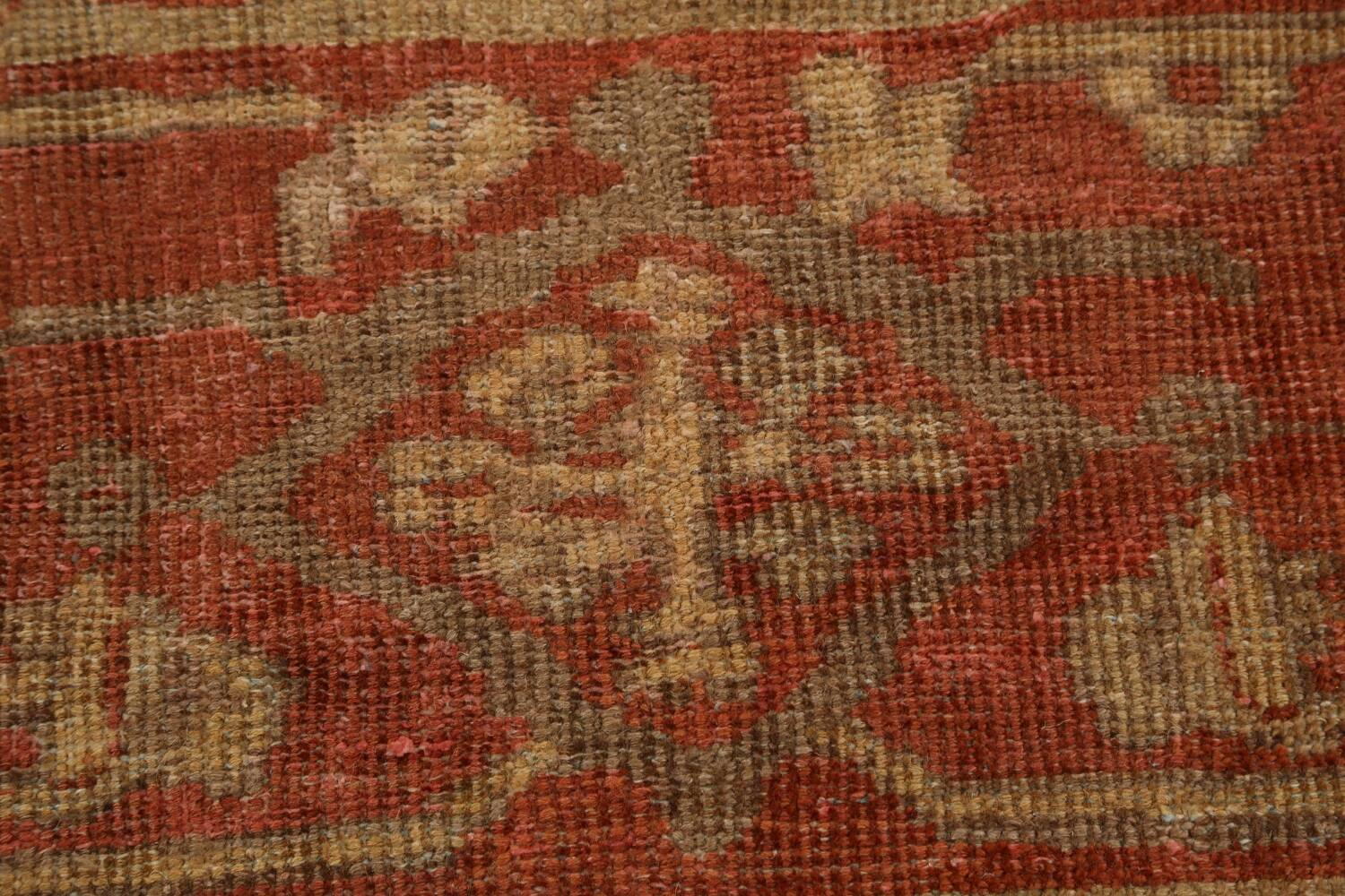 Pre-1900 Antique Sultanabad Persian Rug 13x20 image 9