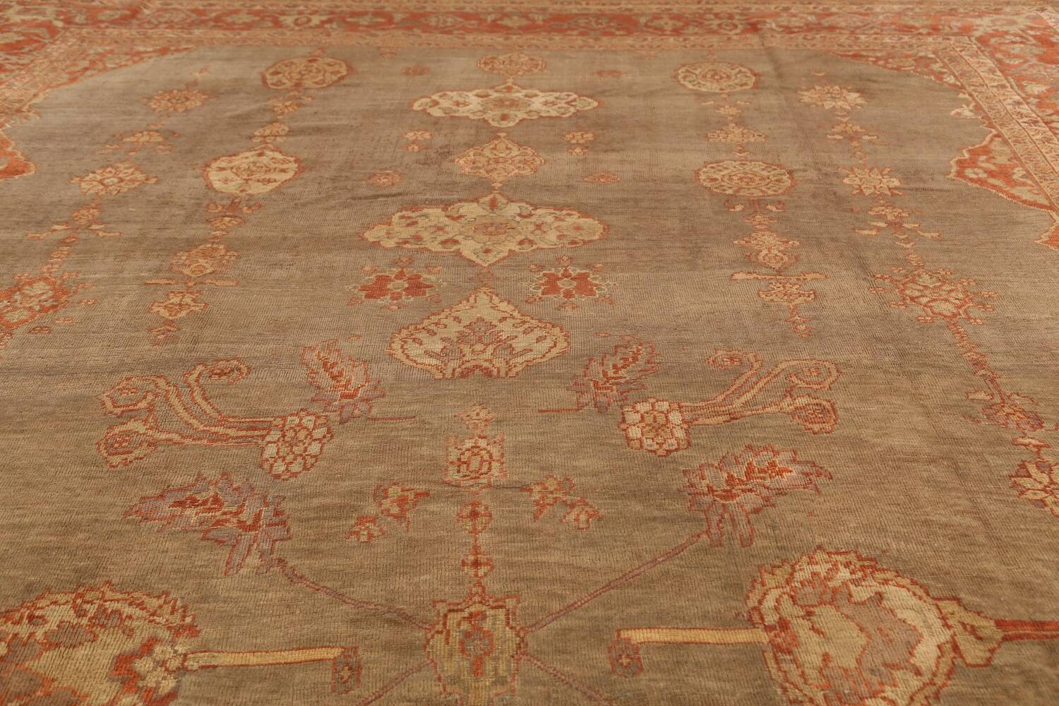 Pre-1900 Antique Sultanabad Persian Rug 13x20 image 11