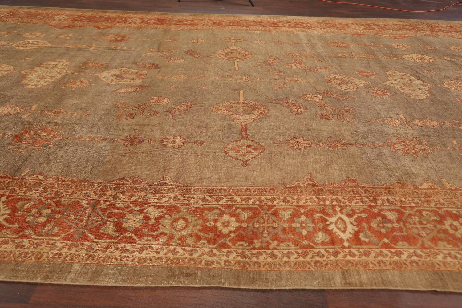 Pre-1900 Antique Sultanabad Persian Rug 13x20 image 13