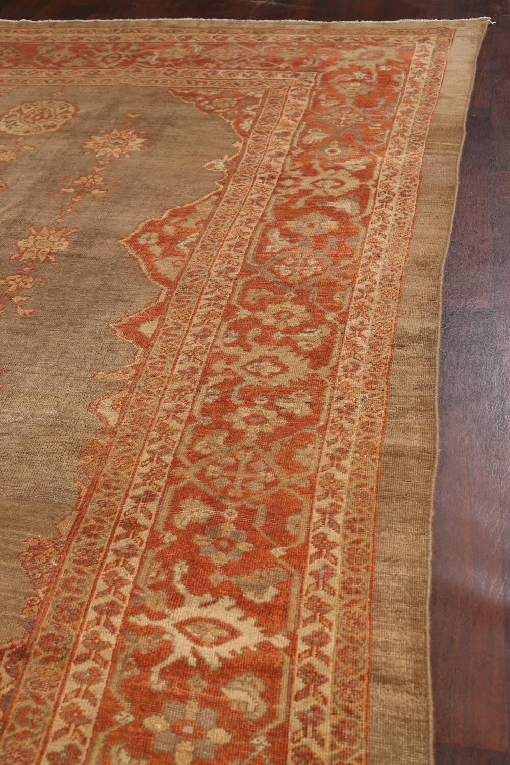 Pre-1900 Antique Sultanabad Persian Rug 13x20 image 12