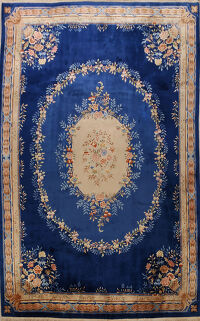 Floral Art Deco Chinese Area Rug 10x14