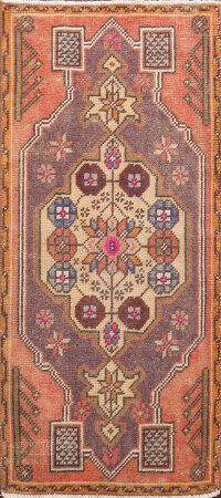 Antique Geometric Authentic Oushak Turkish Area Rug 2x3