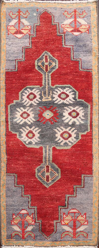 Geometric Oushak Turkish Area Rug 2x4