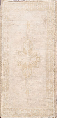 Muted Distressed Oushak Turkish Area Rug 2x3