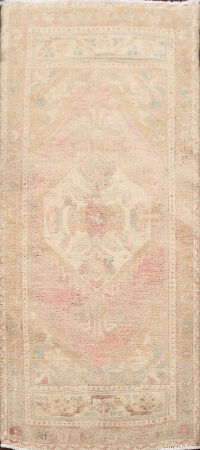 Muted Distressed Oushak Turkish Area Rug 2x4