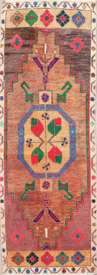 Oushak Turkish Oriental Runner Rug 1x4