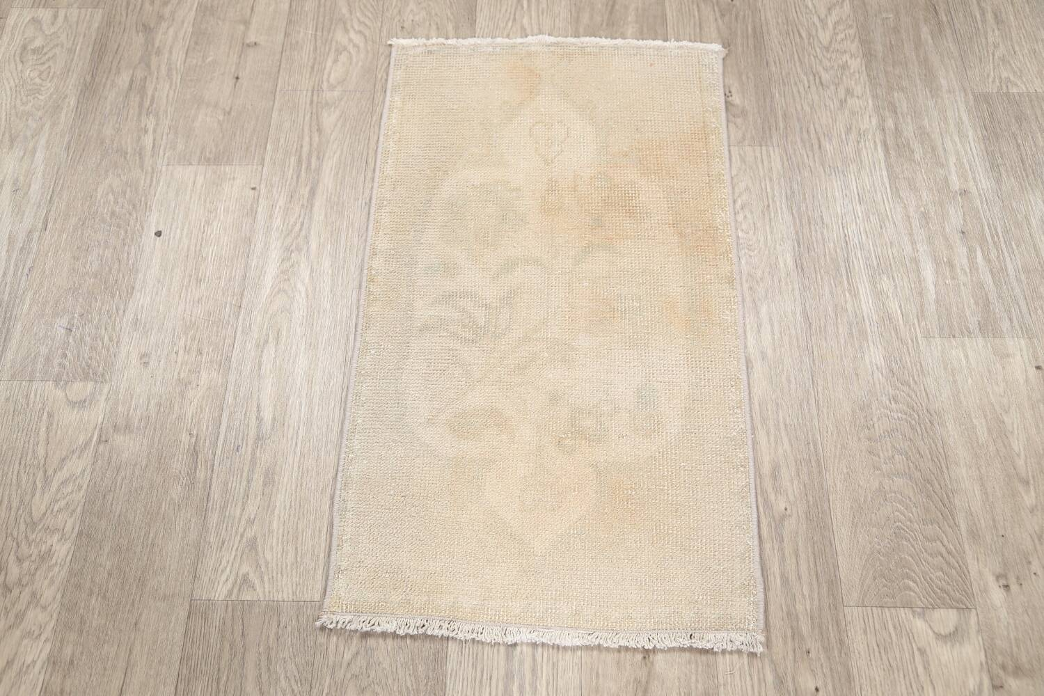 Muted Distressed Oushak Oriental Area Rug 2x3 image 9