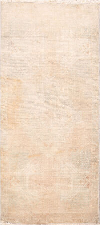 Muted Distressed Oushak Oriental Area Rug 2x4