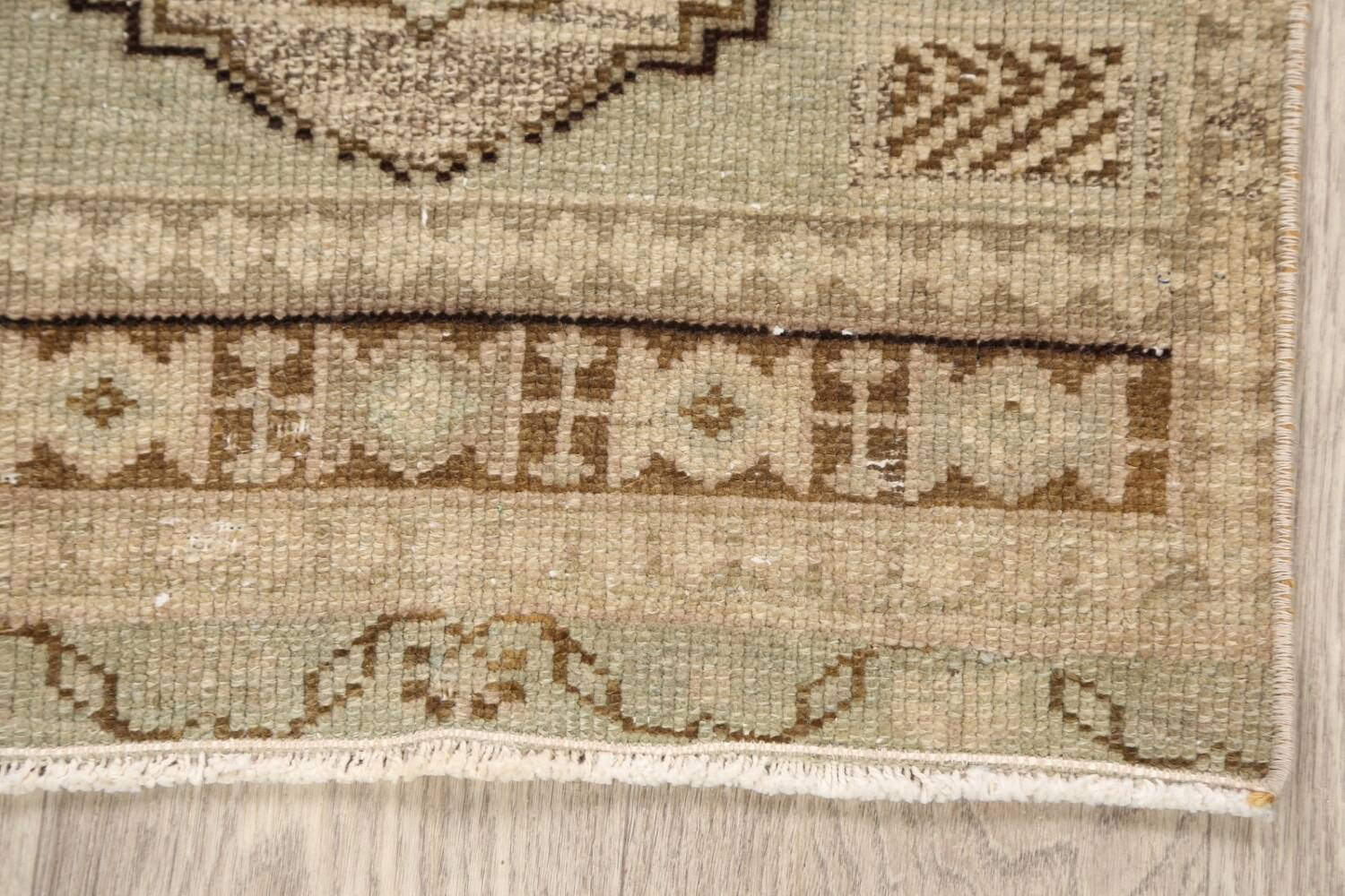 Muted Distressed Oushak Oriental Area Rug 1x3 image 5
