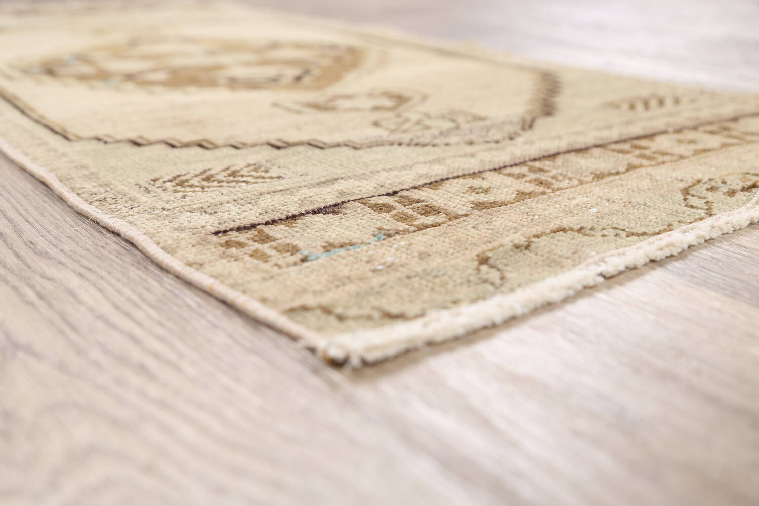 Muted Distressed Oushak Oriental Area Rug 1x3 image 6