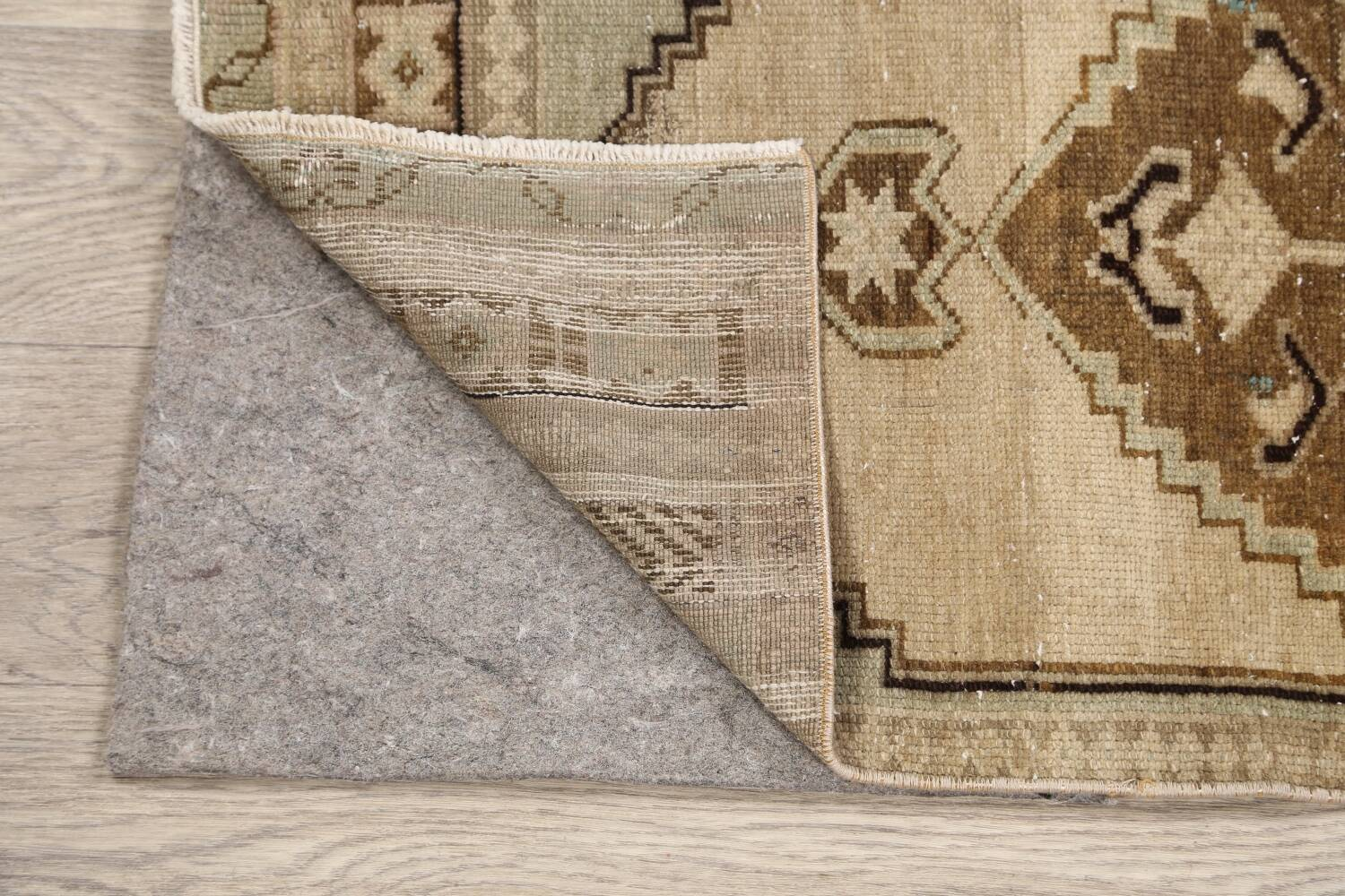 Muted Distressed Oushak Oriental Area Rug 1x3 image 7