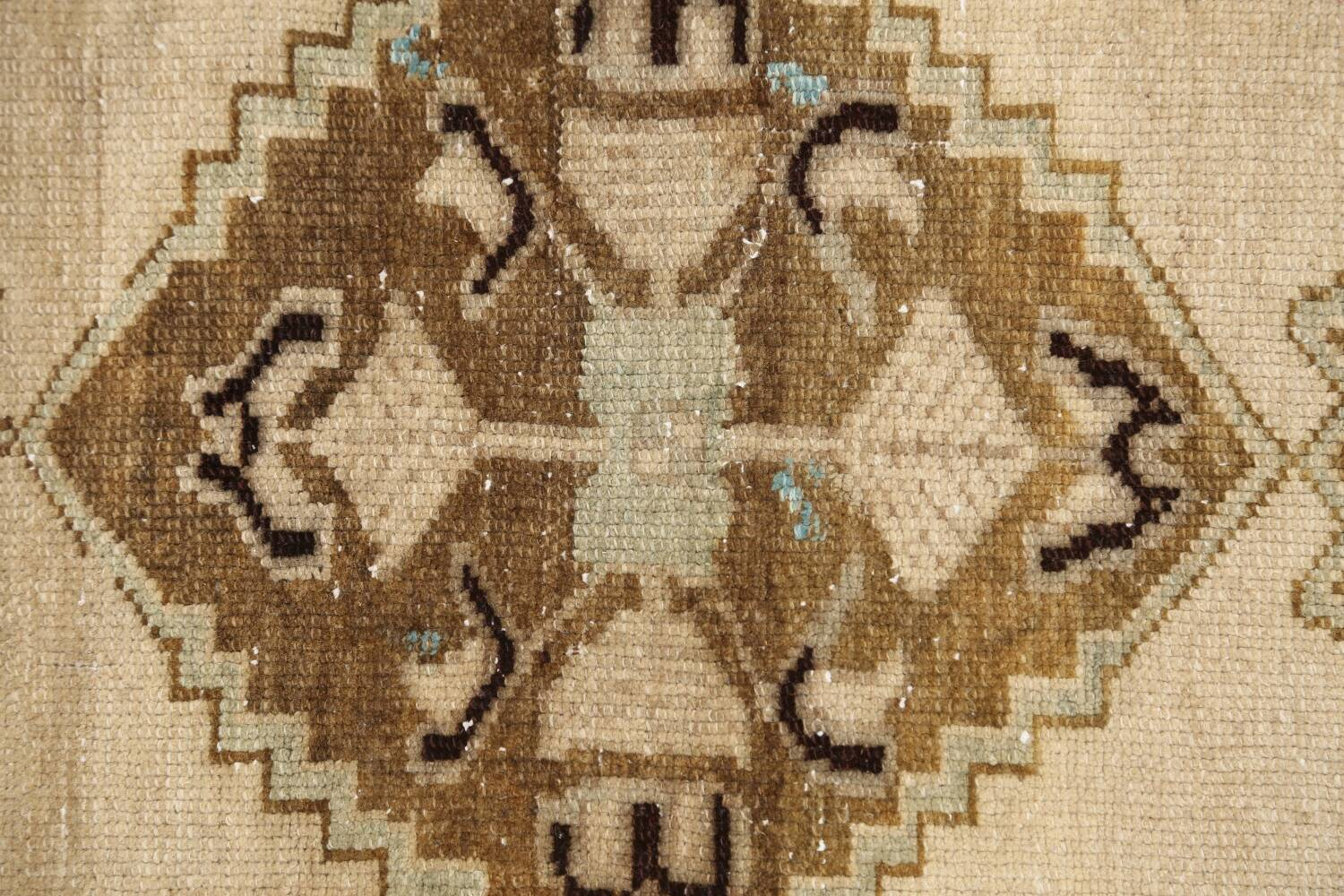 Muted Distressed Oushak Oriental Area Rug 1x3 image 9