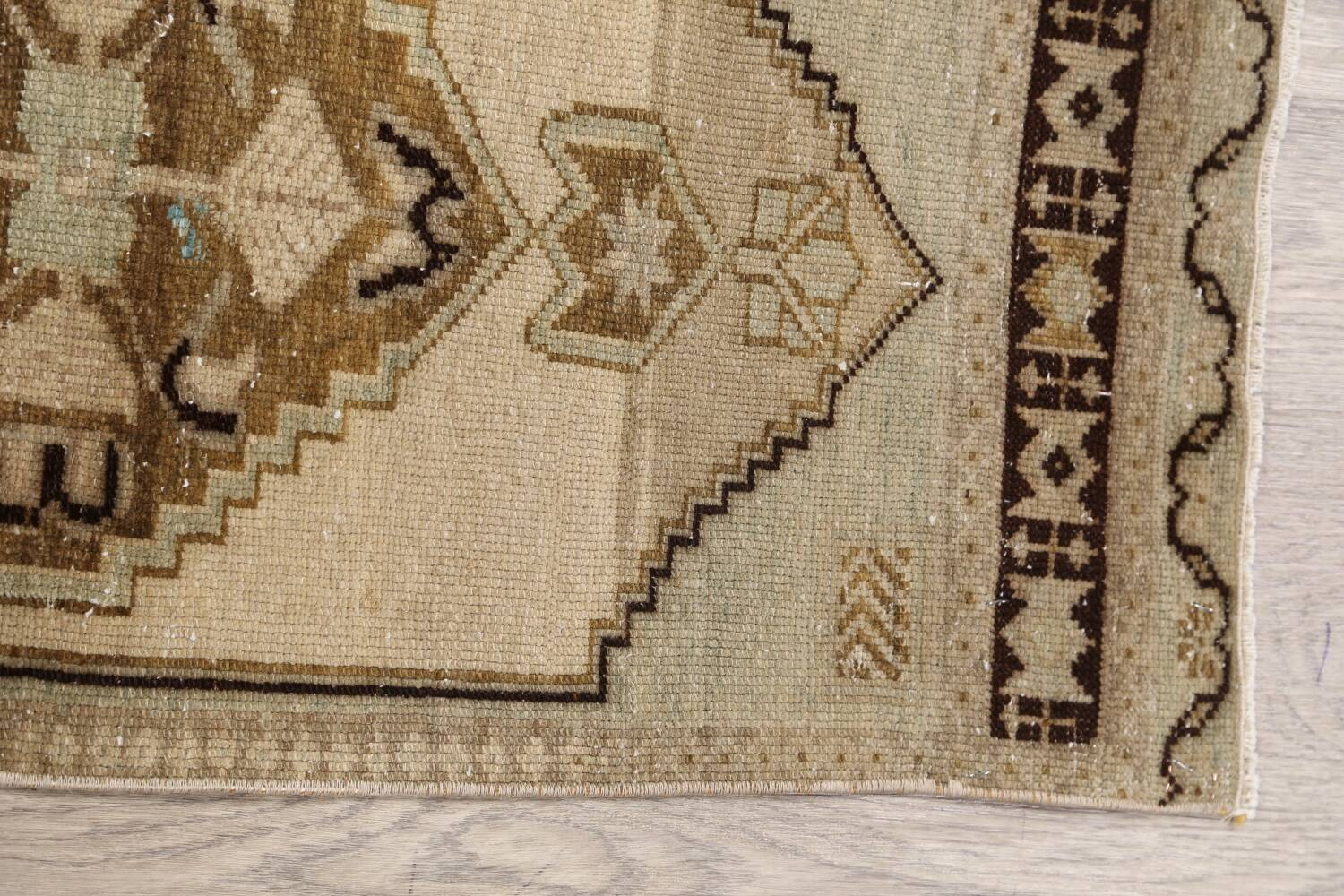 Muted Distressed Oushak Oriental Area Rug 1x3 image 10
