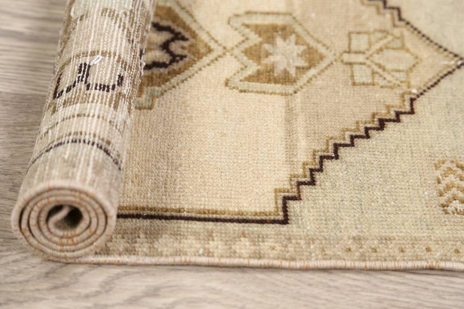 Muted Distressed Oushak Oriental Area Rug 1x3 image 14